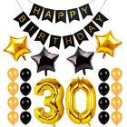 1 16 21 30 40 50 60 Happy Birthday Banner Gold Number Foil Balloons Party Decor