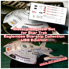 NO MODEL Nova Class USS Equinox Decal Set - Star Trek EAGLEMOSS - DECALS ONLY