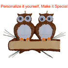 Owl Family of 2 3 4 5 6 Personalized Christmas  Ornaments DO-IT-YOURSELF