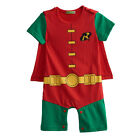 Baby Boy Robin Costume Romper Newborn Halloween Outfit Infant Superhero Playsuit