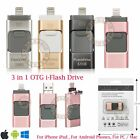 256GB i Flash Drive USB Pen Memory Stick U Disk 3 in 1 for Android iPhone 6 7 PC