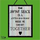 """THE B52's """"THE LOVE SHACK"""" MUSIC*LYRICS*WOODEN POSTER PLAQUE/SHABBY CHIC SIGN"""