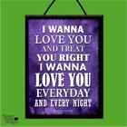 """BOB MARLEY """"IS THIS LOVE"""" WOODEN LYRICS POSTER PLAQUE/SHABBY CHIC SIGN/MUSIC"""