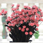 15 Head/Pcs Artificial Roses Bouquet Flower for Wedding Office Party Decoration