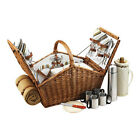 Picnic at Ascot Unisex  Huntsman Basket for Four with Coffee Set/Blanket