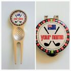 anneys - PERSONALISED aussie range - 4 options - (24mm golf ball markers).