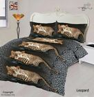 Leopard Animal Print 3D Duvet Cover Bedding Set With Fitted Sheet & Pillow Cases