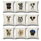 Cute Pet Dog Cotton Linen Pillow Case Sofa Seat Car Cushion Cover