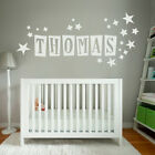 [WD101007E] Personalised Name Wall Sticker with Stars