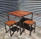 Reclaimed Hardwood Industrial Table - Oak Teak Iroko
