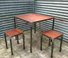 Reclaimed Hardwood Industrial Table - Iroko - Custom sizes