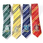 Harry Potter Gryffindor Slytherin Hufflepuff Necktie Silk Tie With Logo Cosplay