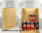 50 x KRAFT Brown Paper Carry Bags - with Handle|Shopping Bags|Gift Bags 13 Sizes