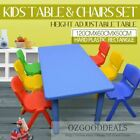 120CM 60CM Kids Toddler Activity Study Dining Playing Table Desk & 4 6 8 Chairs