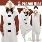 Adult Kigurumi Pajamas Frozen Olaf Cosplay One-Piece Sleepwear Jumpsuit Homewear
