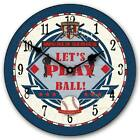 "Baseball World LARGE WALL CLOCK 10""- 48"" Whisper Quiet Non-Ticking WOOD HANDMADE"