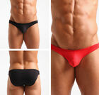Men Cotton Briefs Sexy Underpants Low Waist Shorts Solid Comfy Underwear M L XL