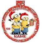 The MINIONS Personalized Christmas Ornament Any Name/Message FREE Ship
