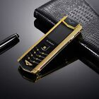 MPARTY Luxury Mobile Phone Metal Body Leather Housing Dual Sim Bluetooth Dial