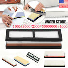 Japanese Whetstone Knife Grit 1000#-8000# Sharpener  Water Stone Stand EK