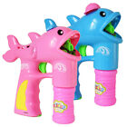 FT- Cute Dolphin Shape Gun Bubble Blower with 2 Bubble Solution Outdoor Kids Toy