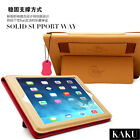 Real Genuine Cowhide Leather Kickstand Case Cover For Apple iPad Air 1 2 Mini 3