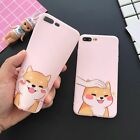 Cartoon Lovely Shiba Inu Back Soft TPU Cover Case For Apple iPhone 6 6S 7 8 Plus