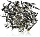 alligator clips metal silver bag hair bulk
