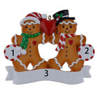 Внешний вид - Personalized Ornament Gingerbread Family of 2 3 4 5 6 Christmas Gift 2018