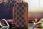 Luxury Famous GRID LEATHER card bag Wallet cover case S W/ Strap for i phone LV2