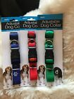 Nylon Paw Print Dog Collar Fits Neck Size up to 18""