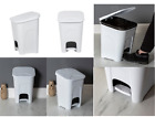 16L Pedal Bin Plastic Waste Dustbin Basket Ice White Home Office Storage New