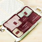 6Pcs Clothes Storage Bags Packing Cube Travel Luggage Organizer Pouch Space Save