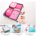 Travel - 6Pcs Clothes Storage Bags Packing Cube Travel Luggage Organizer Pouch Space Save