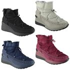 Womens Ladies Fur Lining Walking Wedge Trainers Snow Winter Boots Shoes Shoes