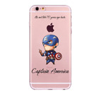 For iPhones 8 7 6 6s Plus 5s Soft Cover Case Funny Super Hero Ironman Superman