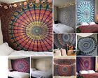 Indian Mandala Tapestry Bohemian Hippie Wall Hanging Decor Queen Bedspread Throw