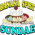 Banana Split Sundae DECAL (Choose Your Size) Ice Cream Food Concession Sticker
