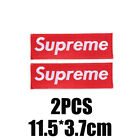 2PCS Red Supreme Clothing - Sewing on Embroidered Patch DIY LOGO FREE SHIPPING!