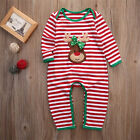 US Newborn Infant Baby Boy Girl Christmas Romper Bodysuit  P