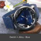 Women 's Fashion Denim Band Analog Quartz Stainless Steel Wrist Watch Watches image