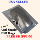 """4x6"""" 3mm Anti Static Bag ESD Open Top Metal Silver For Electronics Hard Drive"""