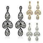 Sale New Womens Girl Gold Silver Plated Crystal Rhinestone Long Stud Earrings