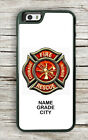 FIREFIGHTERS LOGO PERSONALIZED #2 CASE FOR iPHONE 6 6s or 6 6s PLUS -lmp0Z