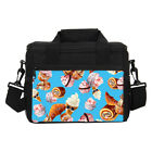 Yummy Hamburger Cookies Emoji Thermal Cooler Lunch Bag W/ Shoulder Strap Contain