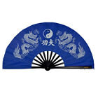 High Quality Black Bamboo Dragons Tai chi Fan Right Left Hand Training Fans