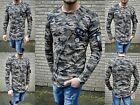 CAMOUFLAGE ASYMETRISCH LONG ARMEE PULLOVER YOUNG FASHION STYLE PARTY STREETWEAR