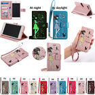 KT For Huawei Strap Embossing Noctilucent Wallet Card Leather Case Cover Skin