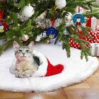 Hot Christmas Tree Skirt  Floor Mat Cover Plush  Party Home Decor Pure white