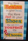 dr seuss quotes brains in your head - DR SEUSS CARDBOARD POSTER SIGN 8.5
